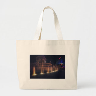 Las Vegas Flamingo Hotel Fountain Architecture Jumbo Tote Bag