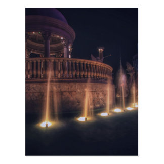 Las Vegas Flamingo Hotel Fountain Architecture Postcard