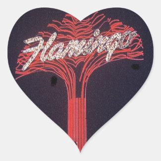 Las Vegas Flamingo Hotel Heart Sticker