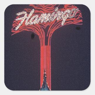 Las Vegas Flamingo Hotel Square Sticker