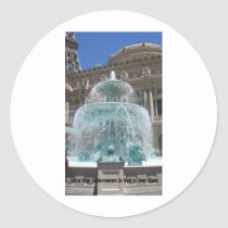 Las Vegas Fountain Classic Round Sticker