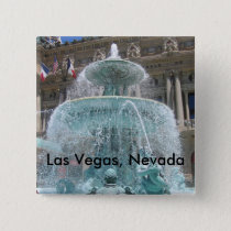 Las Vegas Fountain Pinback Button
