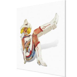 Las Vegas, Fremont Street - Glitter Gultch Gal Gallery Wrapped Canvas