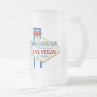 Las Vegas Frosted Glass Beer Mug