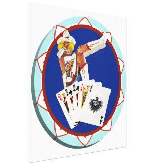 Las Vegas Gal Poker Chip Canvas Print