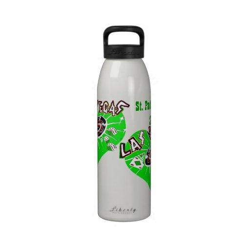 Las Vegas Gambler St. Patrick's Day Water Bottles