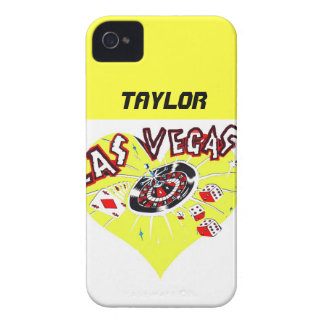 Las Vegas Gambler Yellow Heart iPhone 4 Case