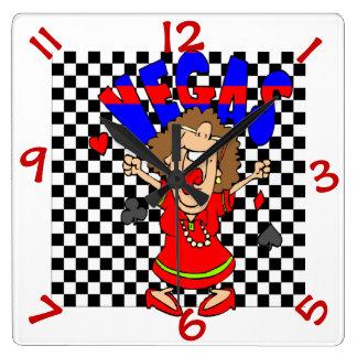 Las Vegas Gamblers Casino Humorous Wall Clock