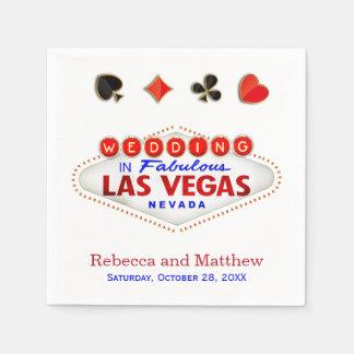 Las Vegas Getting Married Fabulous Wedding Standard Cocktail Napkin