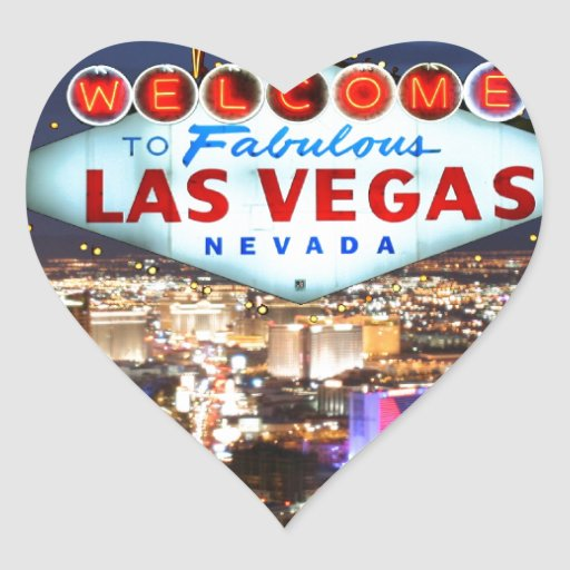 Las vegas gifts heart sticker zazzle for Arts and crafts stores in las vegas