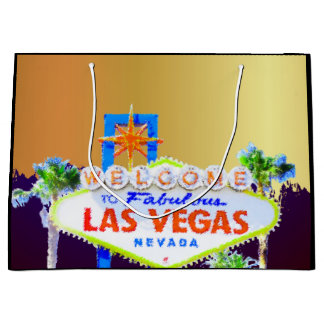 Las Vegas Gold Bachelorette Party Large Gift Bag