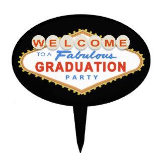 Las Vegas Graduation Party Cake Topper