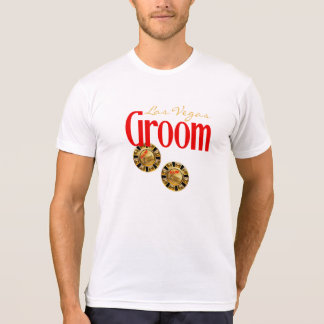 Las Vegas Groom ask me to customize casino chips T-Shirt