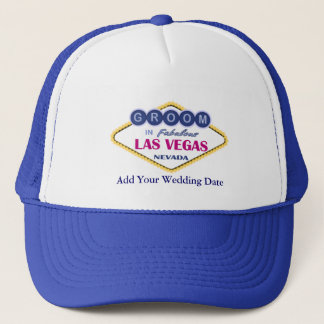 Las Vegas Groom Hat. Trucker Hat