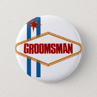 Las Vegas Groomsman Pinback Button