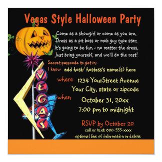 Las Vegas Halloween Party Card