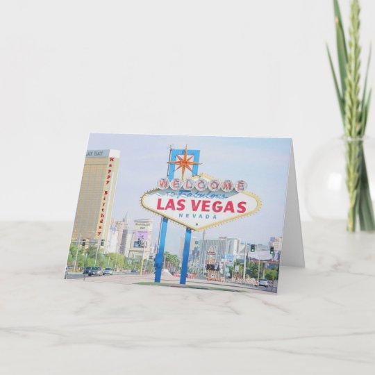 Las Vegas Happy Birthday Card