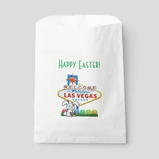 Las Vegas Happy Easter Custom White Favor Bag
