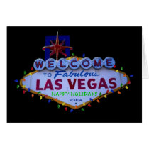 Las Vegas Happy Holidays Lights Card