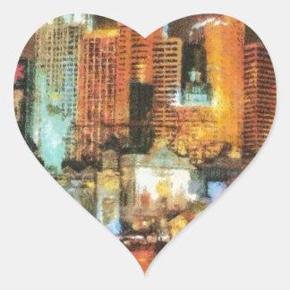 Las vegas heart sticker