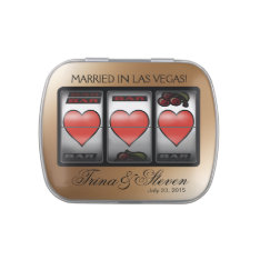 Las Vegas Hearts Jackpot Wedding Favor champagne Jelly Belly Tins at Zazzle
