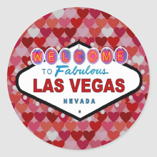 Las vegas hearts of fun sticker zazzle for Arts and crafts stores in las vegas