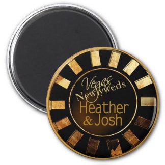 Las Vegas Heather & Josh Casino Chip Magnet Favor