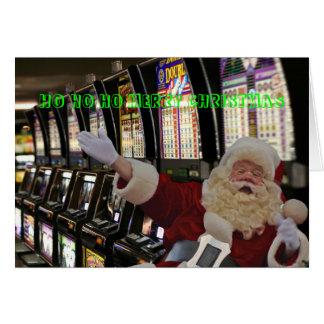 Las Vegas HO HO HO MERRY CHRISTMAS Santa Card