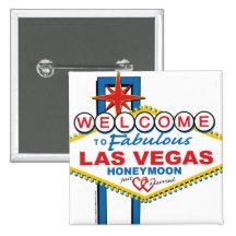 Las Vegas Honeymoon 2 Inch Square Button