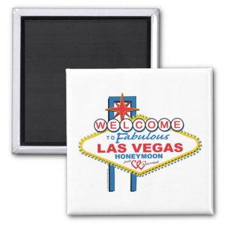 Las Vegas Honeymoon 2 Inch Square Magnet