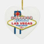 Las Vegas Honeymoon Christmas Ornaments