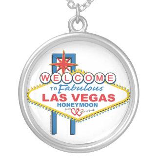Las Vegas Honeymoon Gifts Round Pendant Necklace