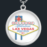 "Las Vegas Honeymoon Gifts Silver Plated Necklace<br><div class=""desc"">Las Vegas Honeymoon necklace</div>"