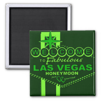 Las Vegas Honeymoon Pop Art Magnet