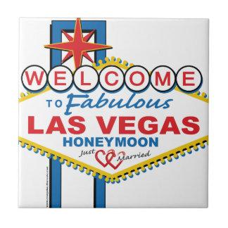Las Vegas Honeymoon retro Tiles
