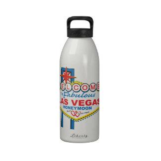 Las Vegas Honeymoon retro Drinking Bottles