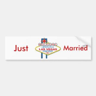 Las Vegas Honeymoon/Save the Date Bumper Sticker