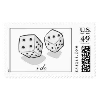Las Vegas I Do Wedding Postage Stamp