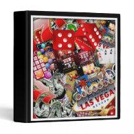 Las Vegas Icons - Gamblers Delight 3 Ring Binder