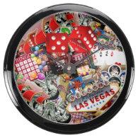 Las Vegas Icons - Gamblers Delight Aqua Clock