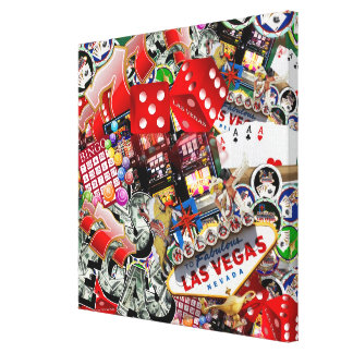 Las Vegas Icons - Gamblers Delight Stretched Canvas Print