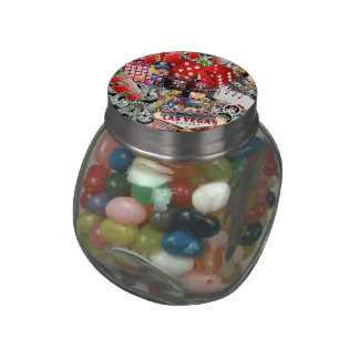 Las Vegas Icons - Gamblers Delight Glass Candy Jar