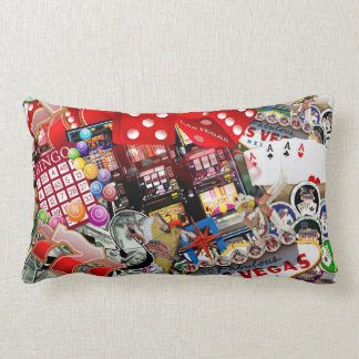 Las Vegas Icons - Gamblers Delight Lumbar Pillow