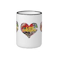 Las Vegas Icons - Heart Shape Ringer Coffee Mug
