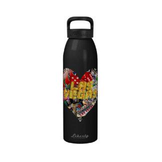 Las Vegas Icons - Heart Shape Reusable Water Bottles
