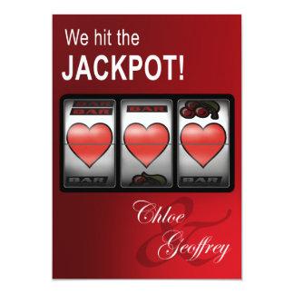Las Vegas Jackpot Heart Slots Wedding Card