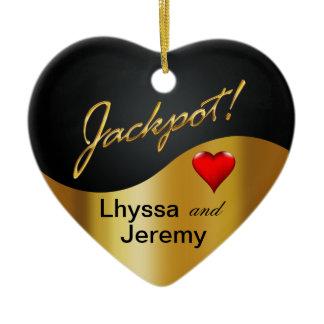 Las Vegas Jackpot photo black/gold Ceramic Ornament