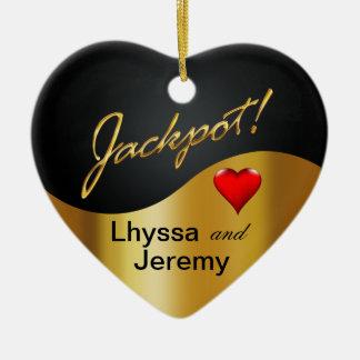 Las Vegas Jackpot photo black/gold Ornament