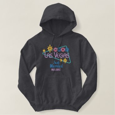 Bride Themed Las Vegas Just Married Embroidered Hoodie