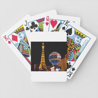 Las Vegas Las Vegas City Illuminated Night Casino Bicycle Playing Cards